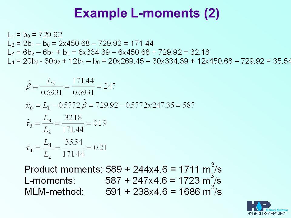 Example L-moments (2)