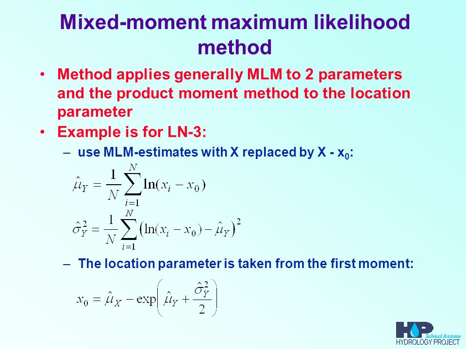 Mixed-moment maximum likelihood method