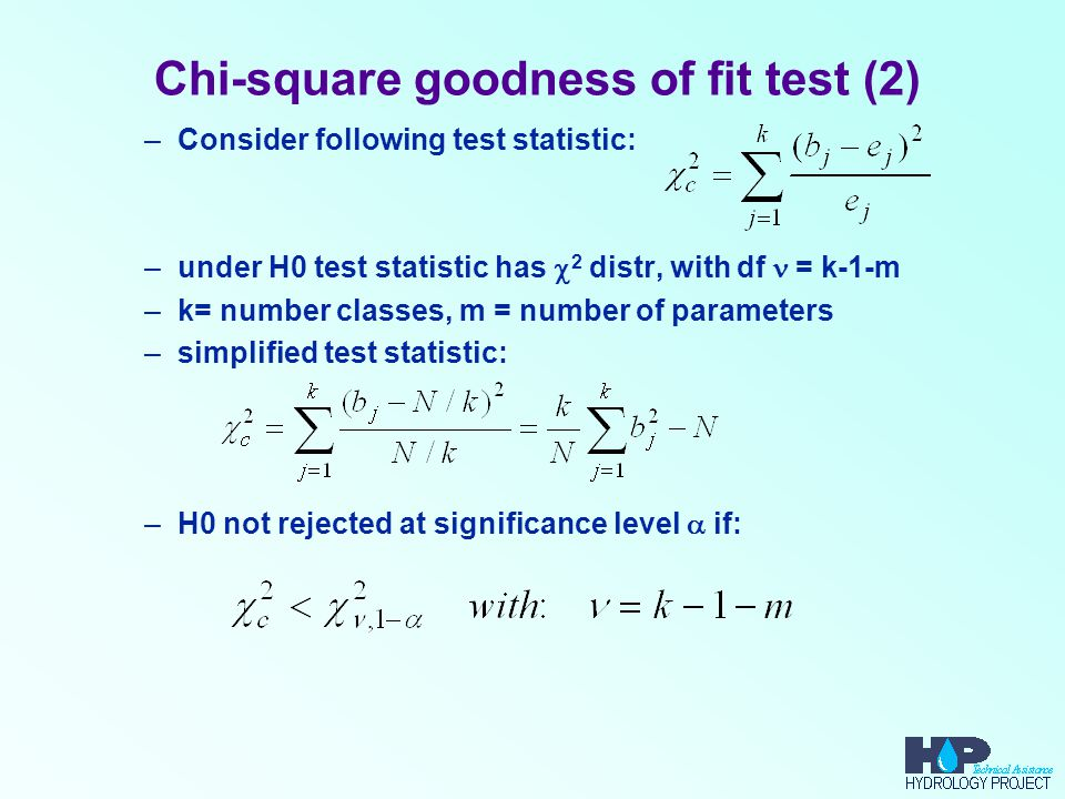 Chi-square goodness of fit test (2)
