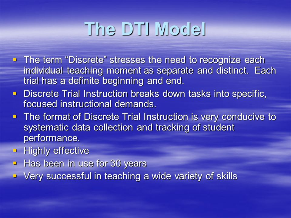 The DTI Model