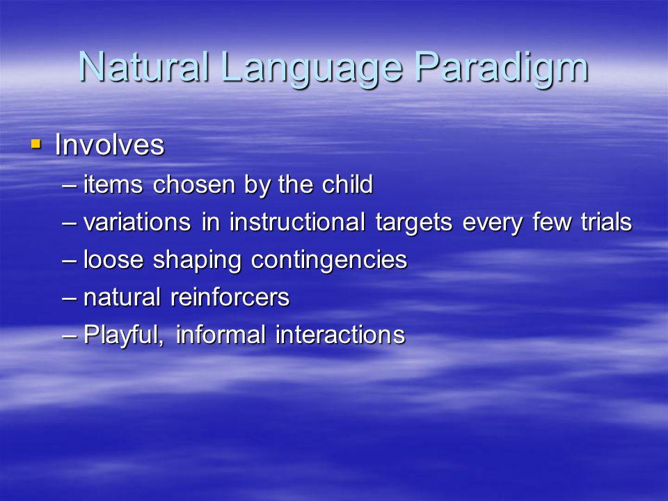 Natural Language Paradigm