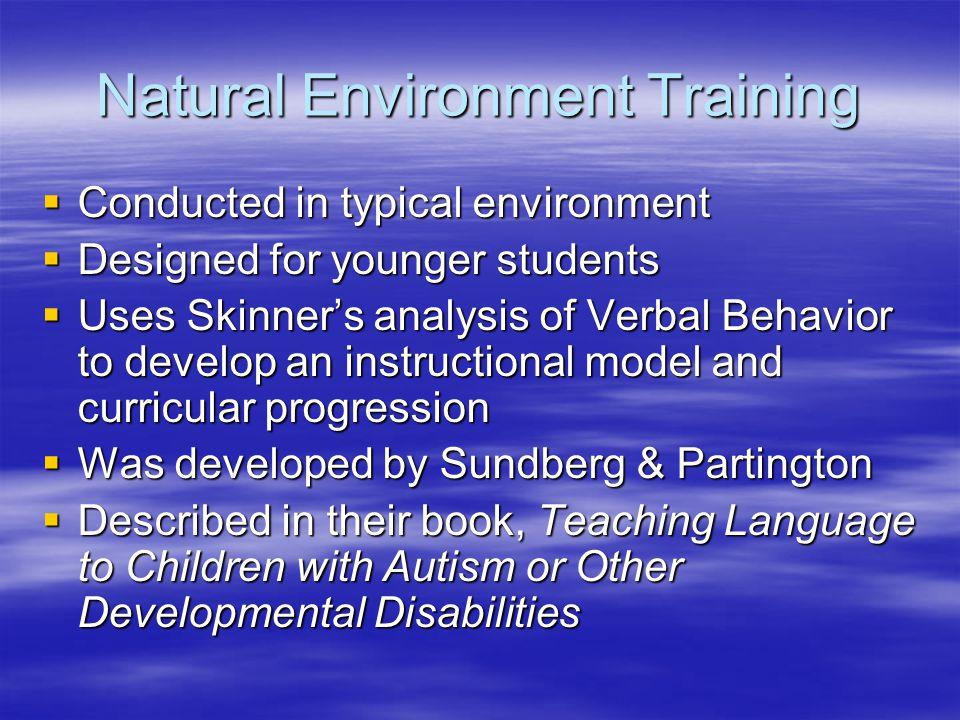 Natural Environment Training
