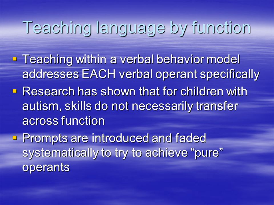 Teaching language by function