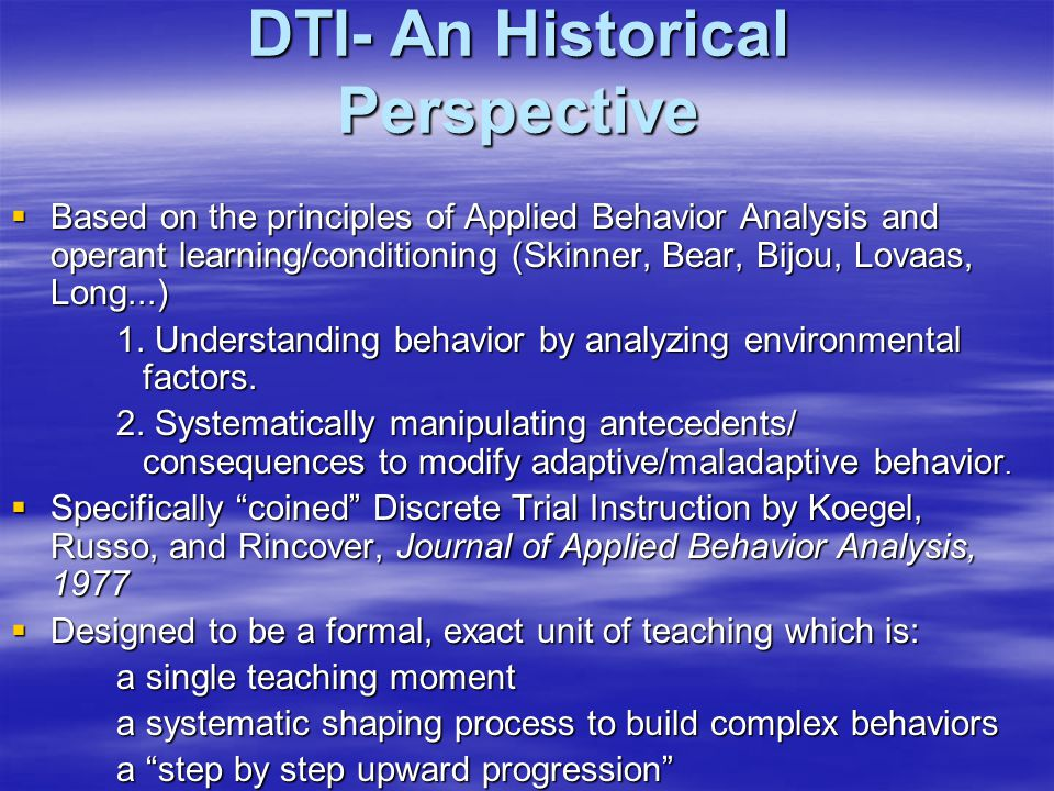 DTI- An Historical Perspective
