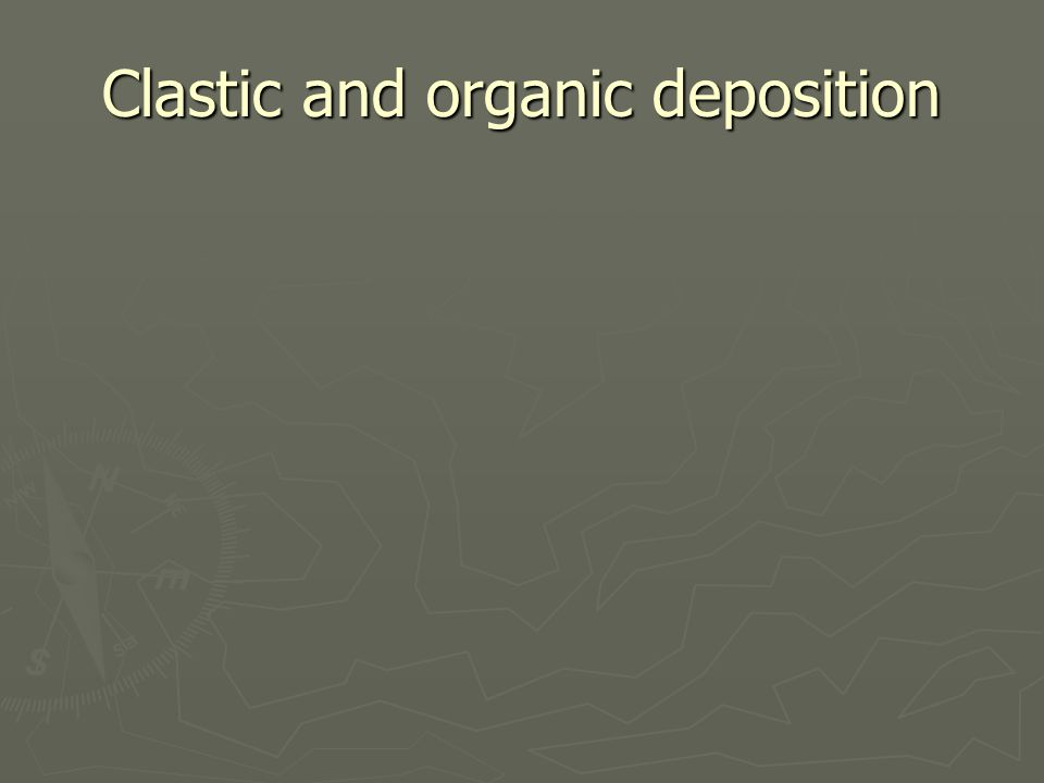 Clastic and organic deposition