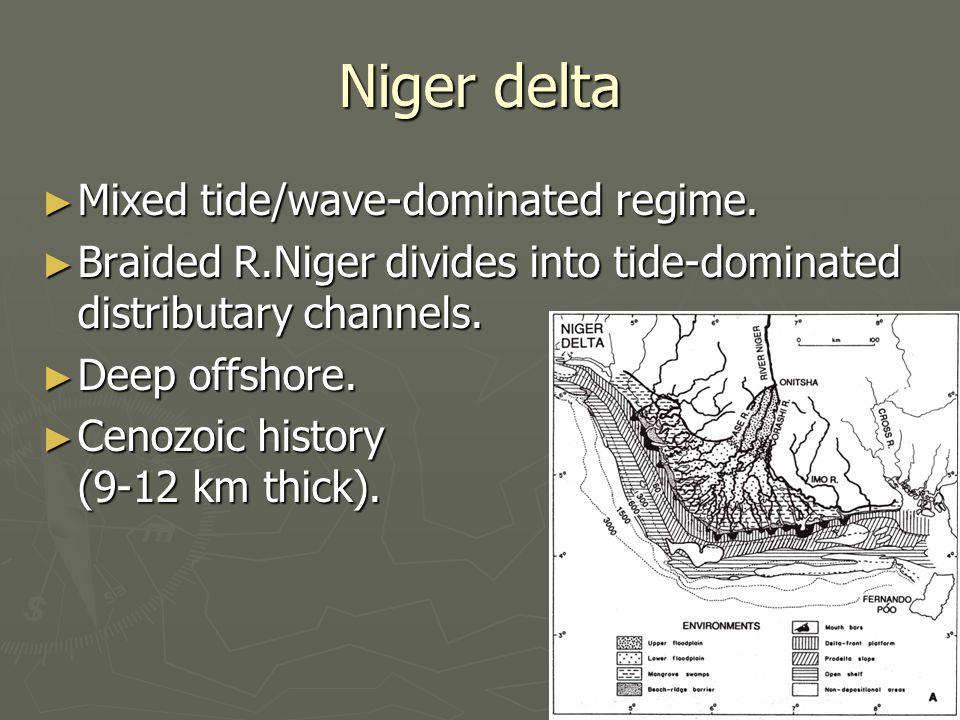 Niger delta Mixed tide/wave-dominated regime.