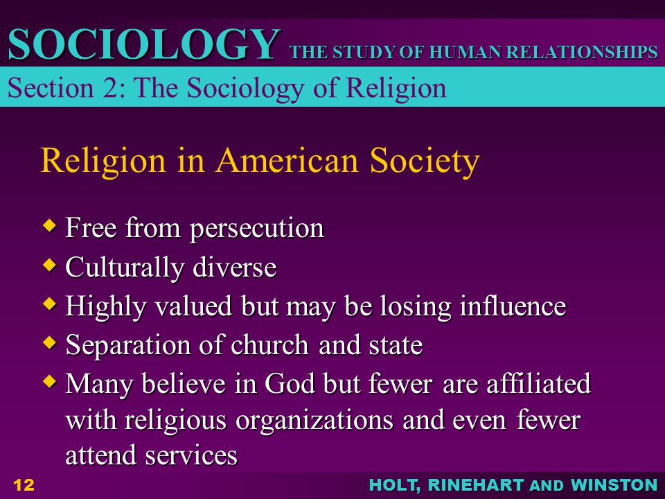 Religion in American Society