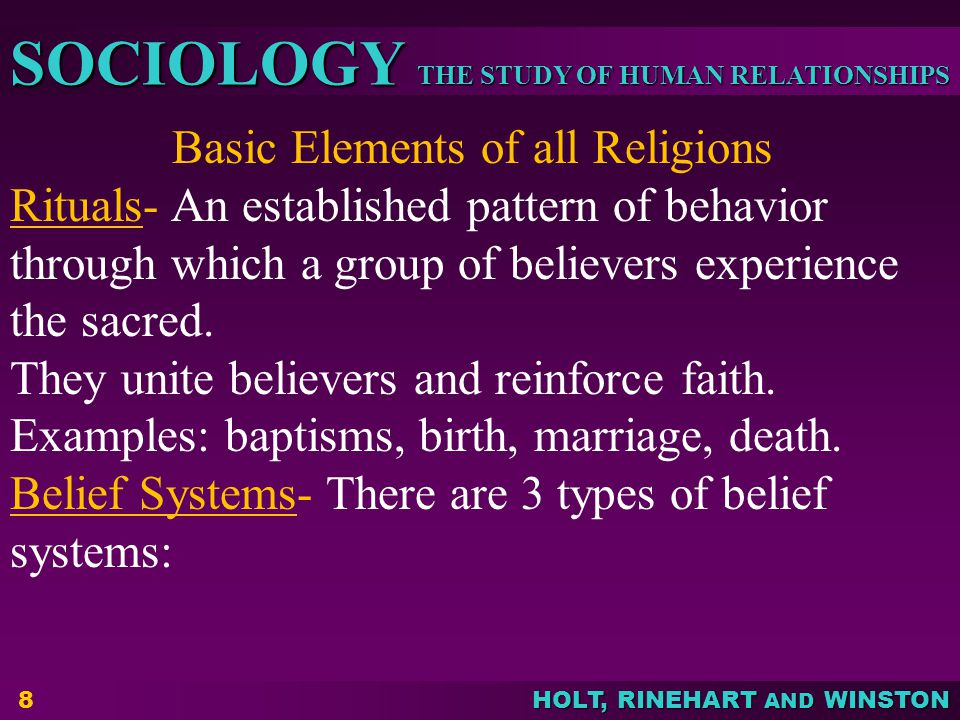 Basic Elements of all Religions