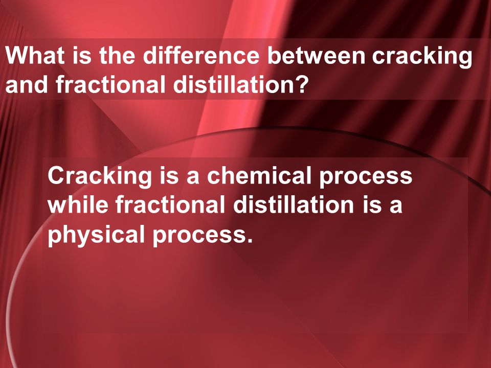 What is the difference between cracking and fractional distillation