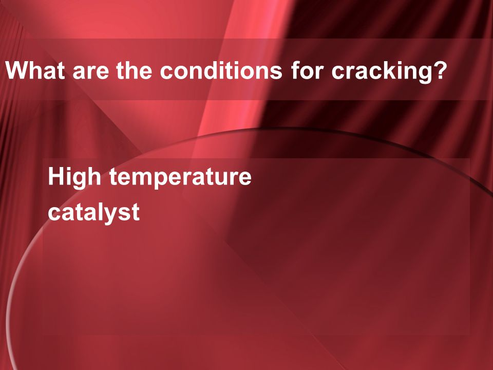 What are the conditions for cracking
