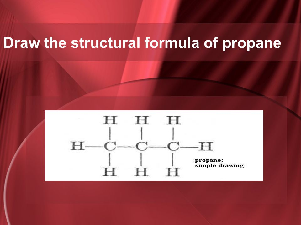Draw the structural formula of propane