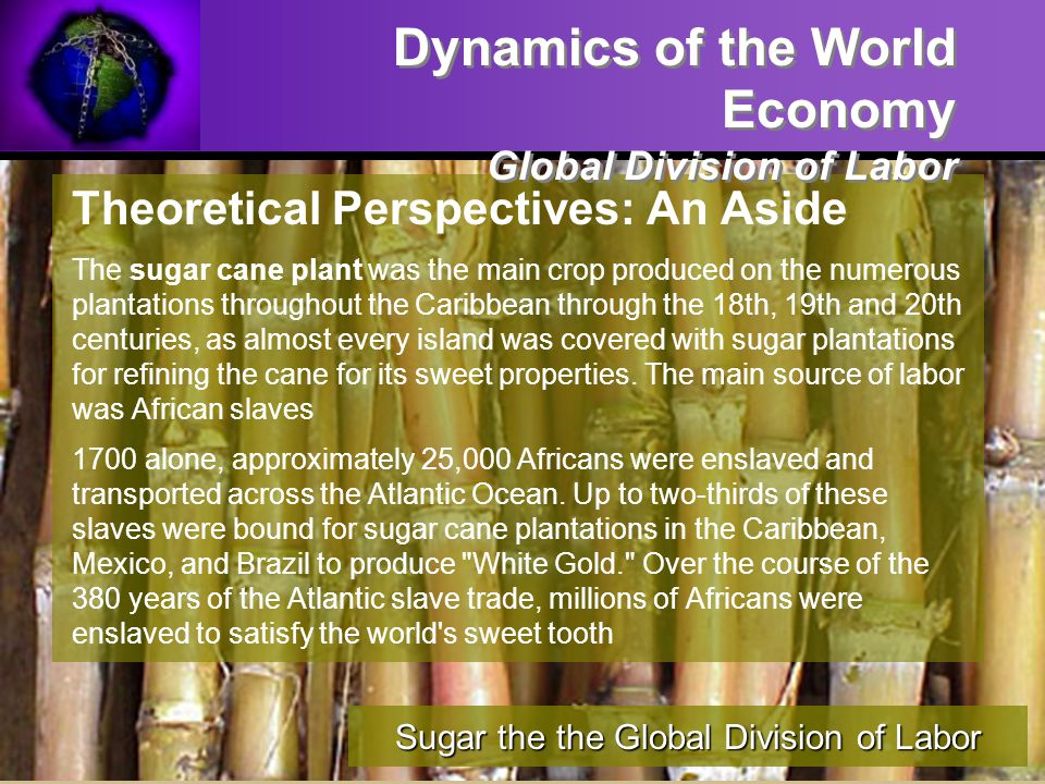 Sugar the the Global Division of Labor