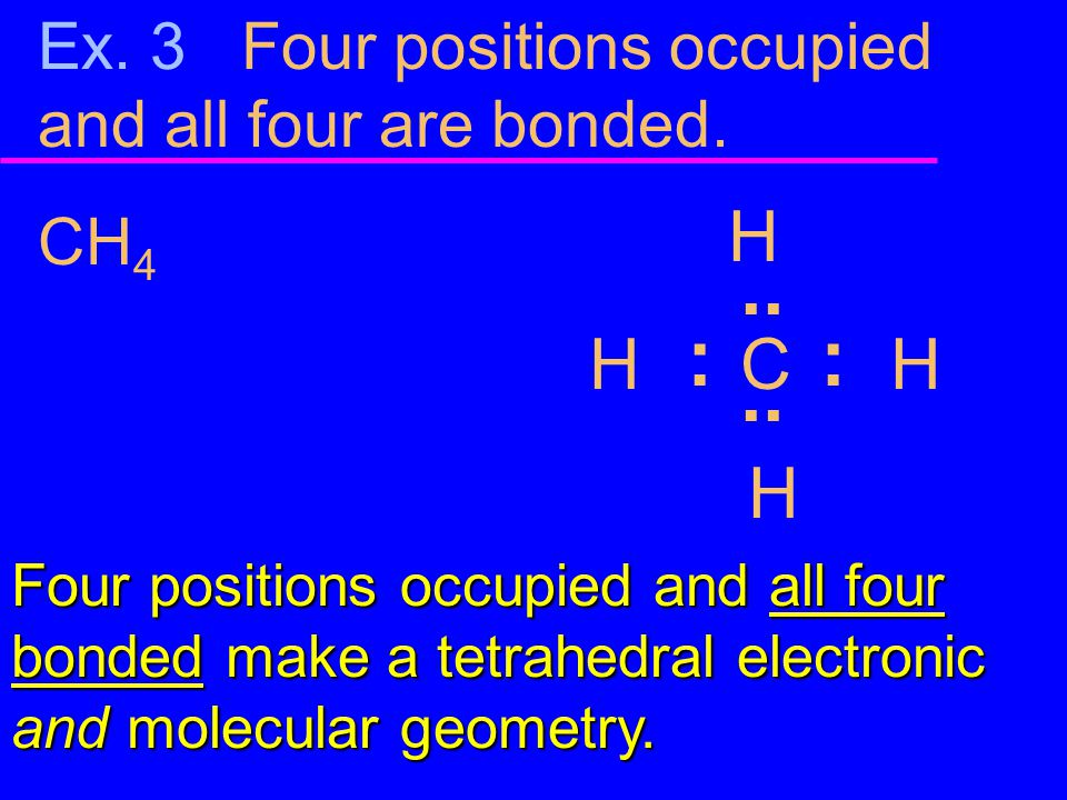 Ex. 3 Four positions occupied and all four are bonded.