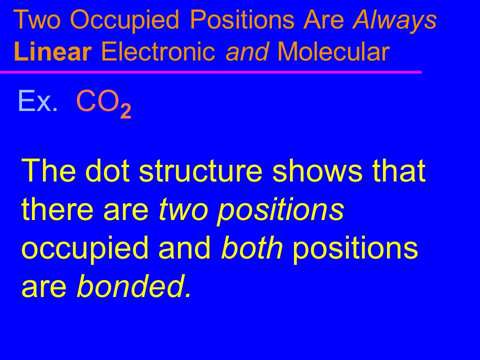 Two Occupied Positions Are Always Linear Electronic and Molecular