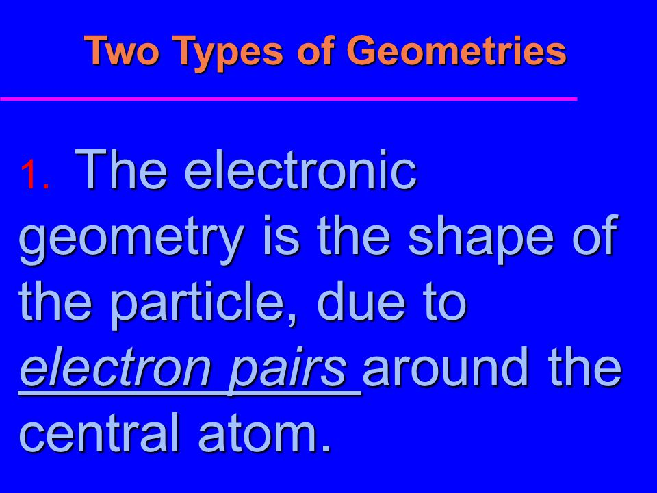 Two Types of Geometries