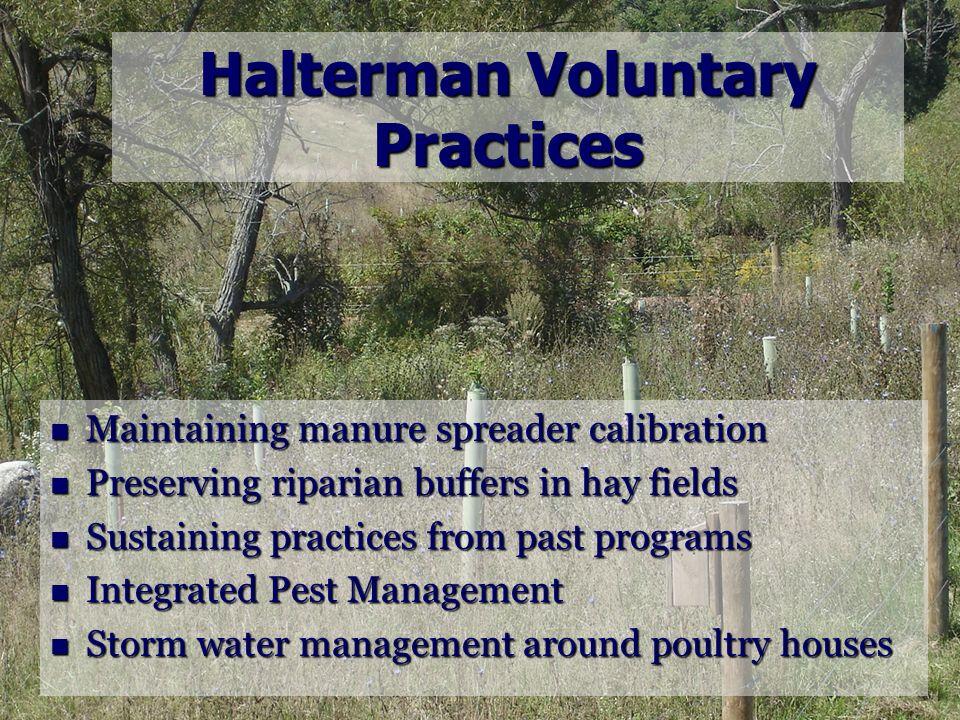 Halterman Voluntary Practices