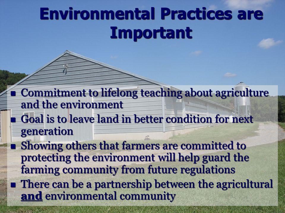 Environmental Practices are Important