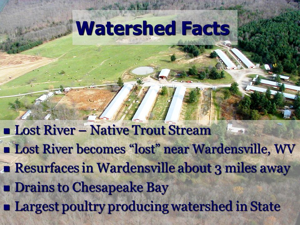 Watershed Facts Lost River – Native Trout Stream