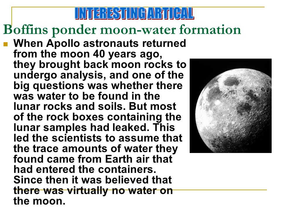 Boffins ponder moon-water formation