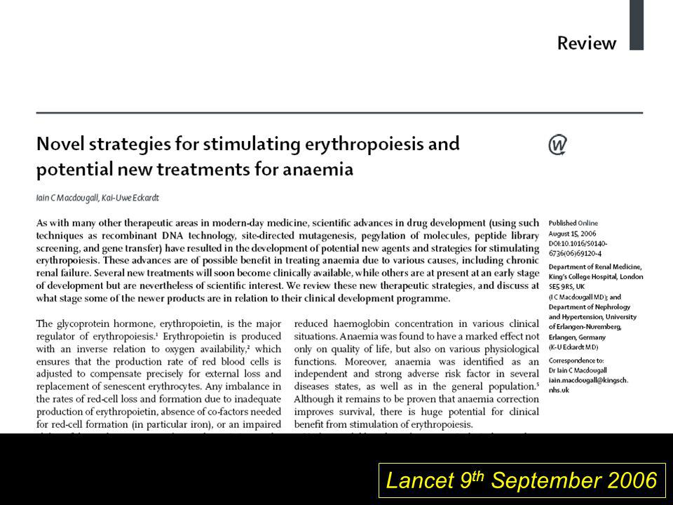 Lancet 9th September 2006 1