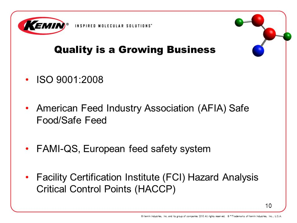 Quality is a Growing Business