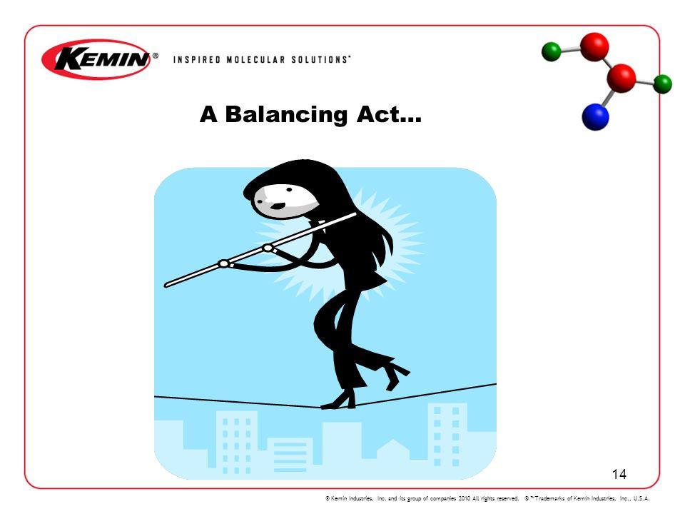 A Balancing Act…