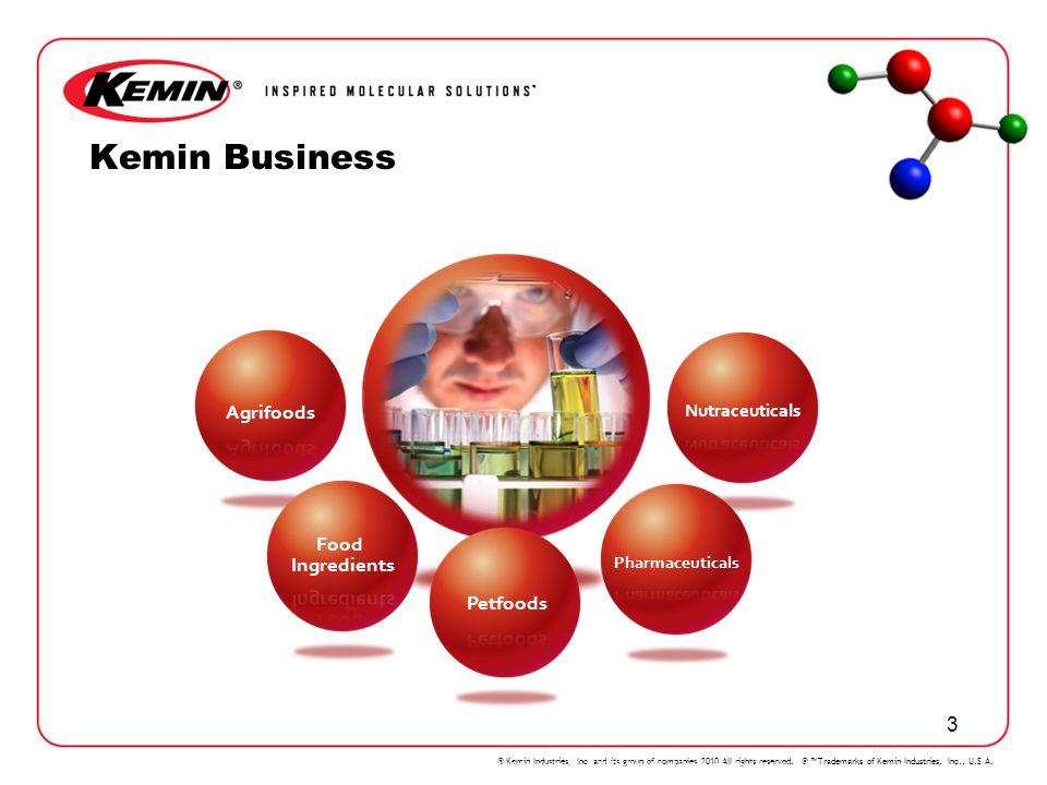 KEMIN Kemin Business Agrifoods Food Ingredients Petfoods