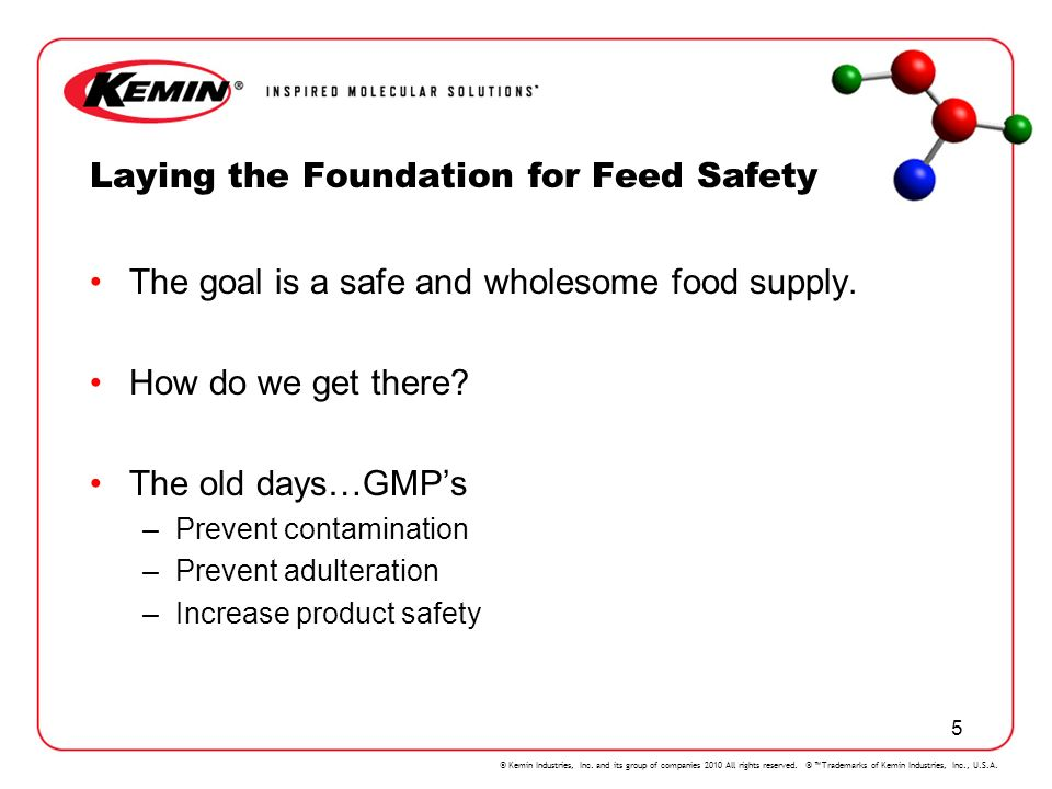 Laying the Foundation for Feed Safety