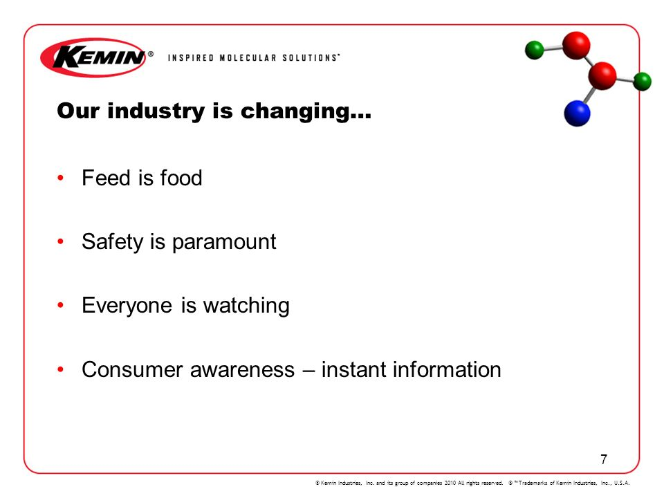 Our industry is changing…