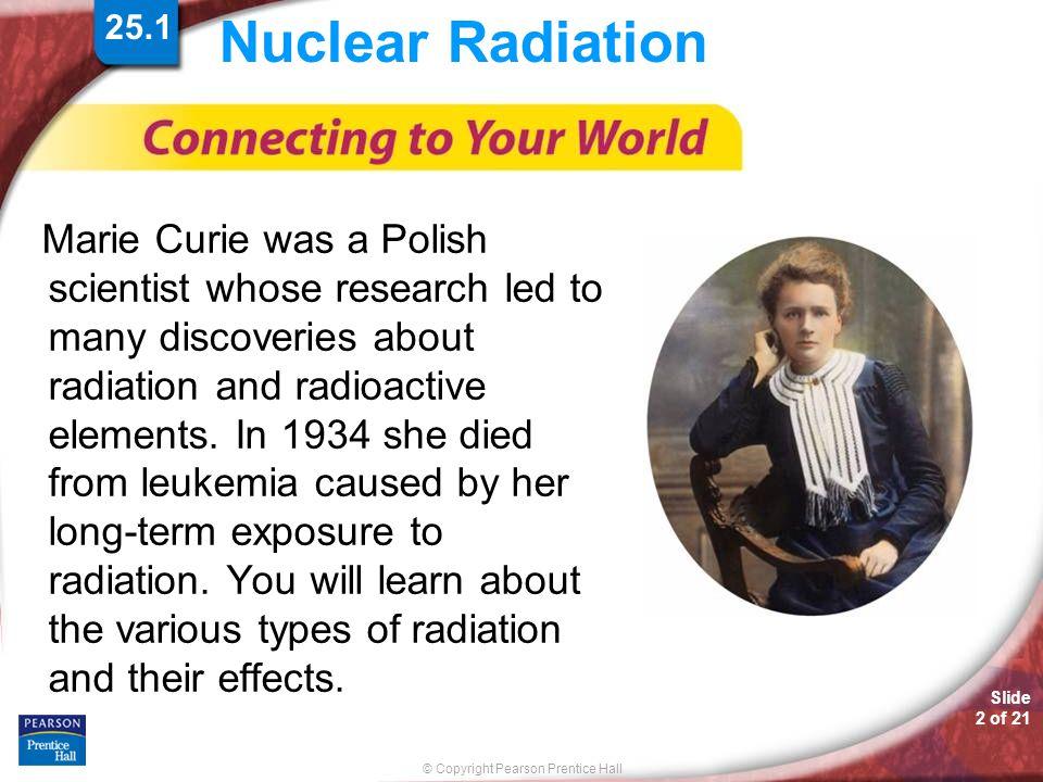25.1 Nuclear Radiation.