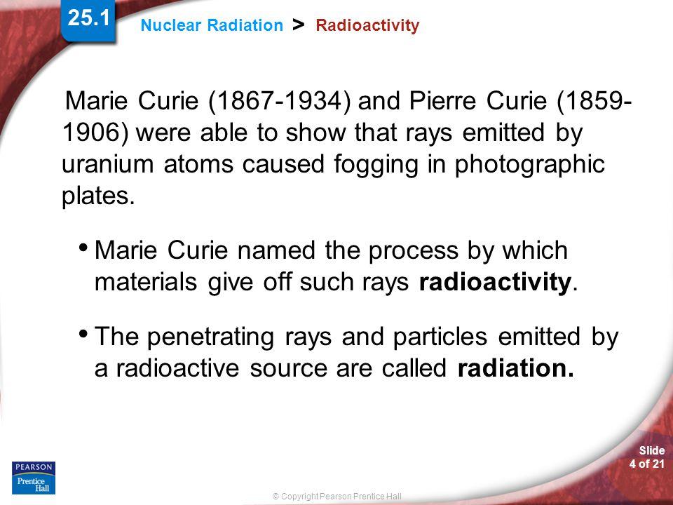 25.1 Radioactivity.