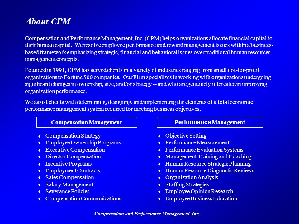 About CPM