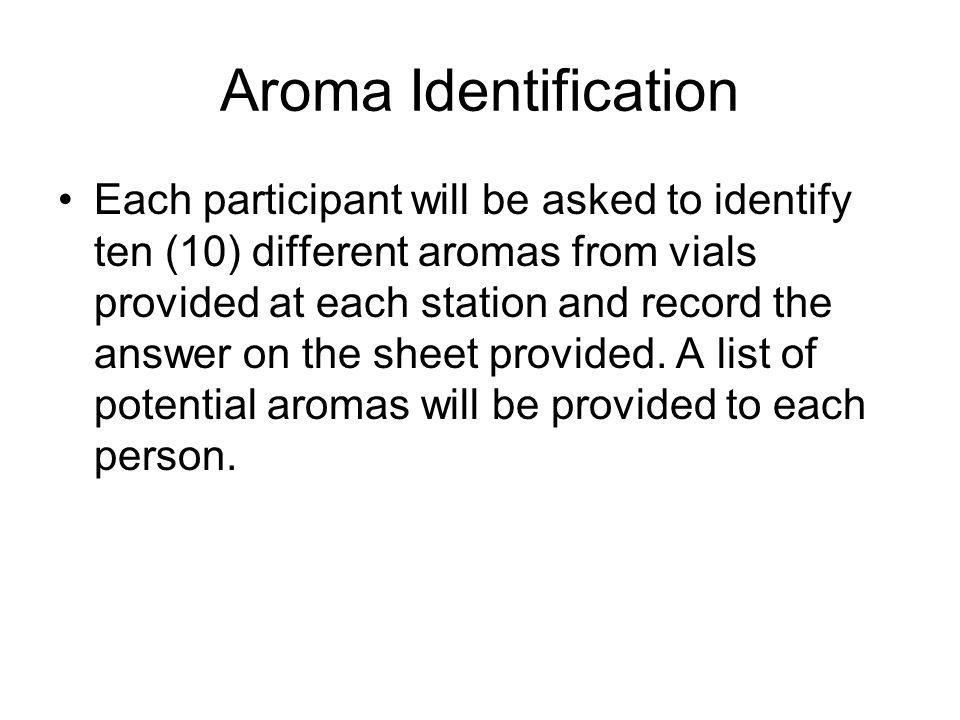 Aroma Identification