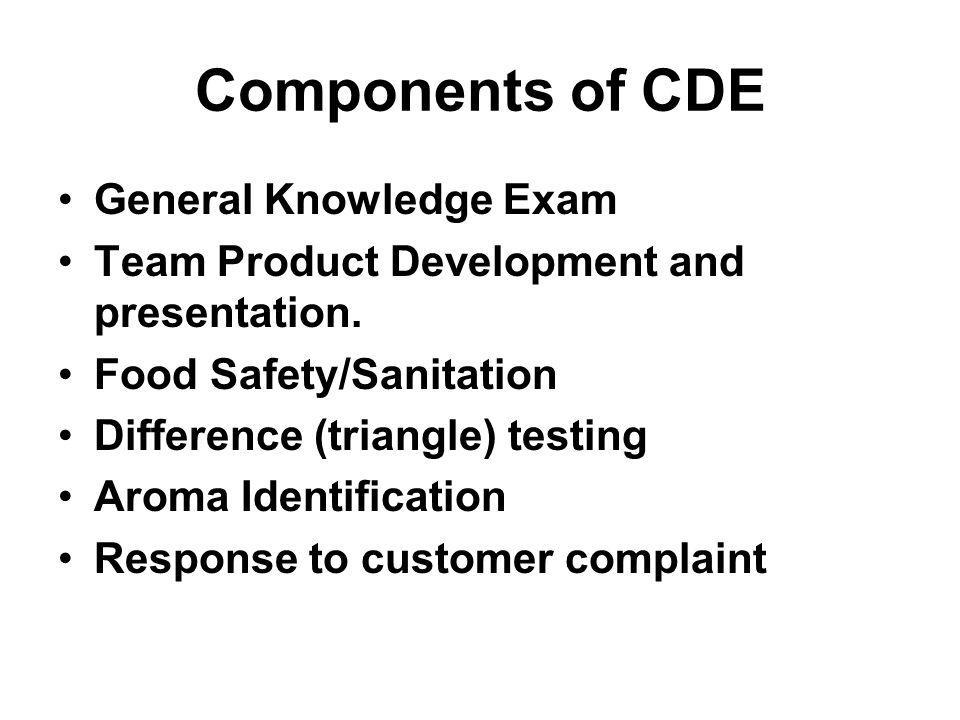 Components of CDE General Knowledge Exam