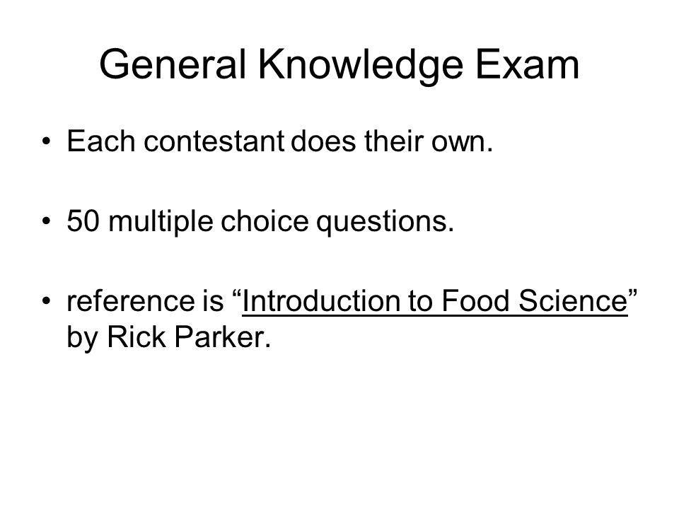 General Knowledge Exam