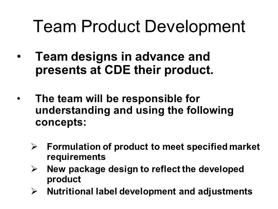 Team Product Development