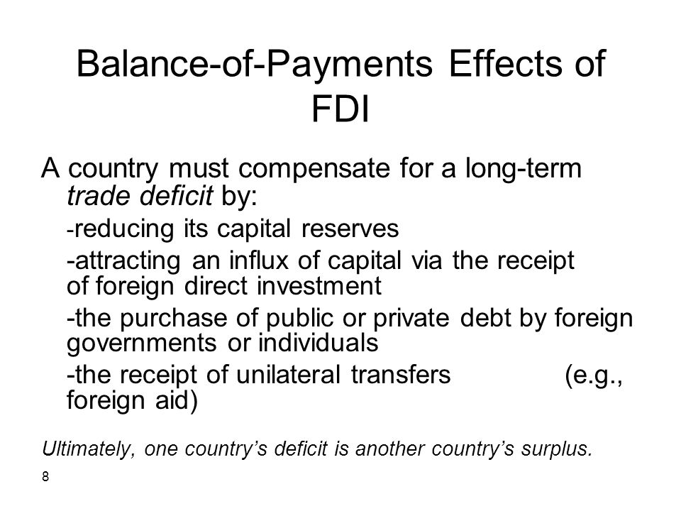 Balance-of-Payments Effects of FDI