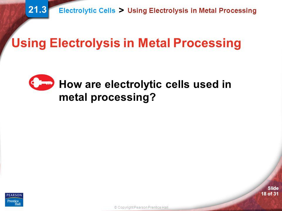 Using Electrolysis in Metal Processing