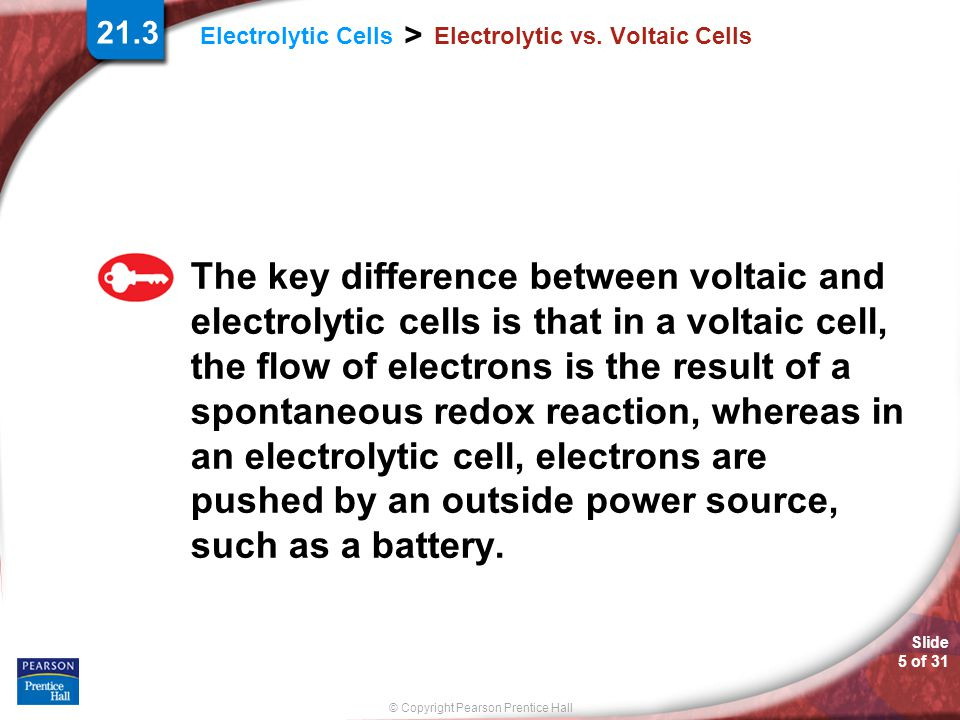 Electrolytic vs. Voltaic Cells