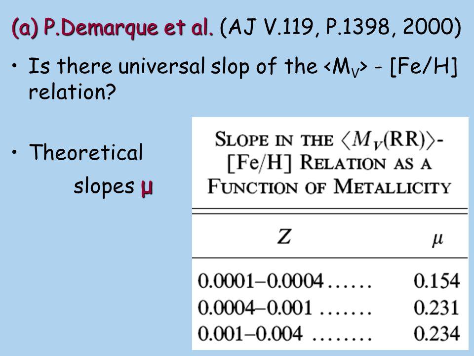 (a) P.Demarque et al. (AJ V.119, P.1398, 2000)