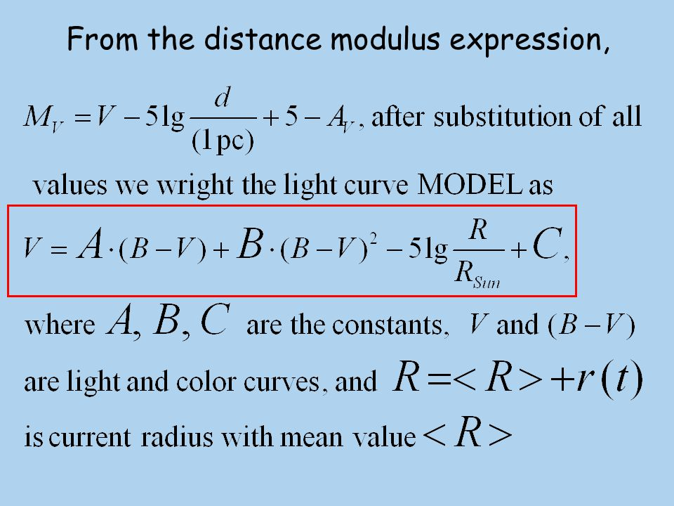 From the distance modulus expression,