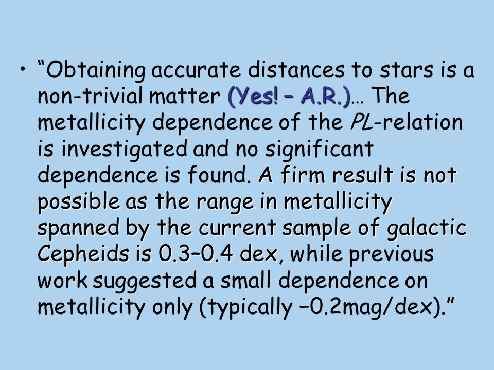 Obtaining accurate distances to stars is a non-trivial matter (Yes