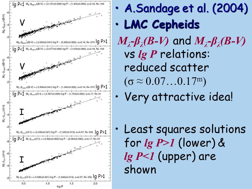 A.Sandage et al. (2004) LMC Cepheids