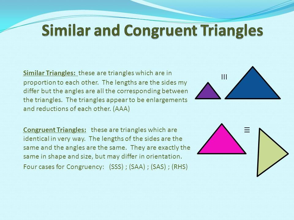Similar and Congruent Triangles