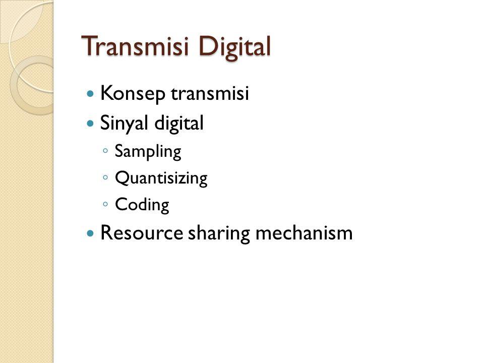 Transmisi Digital Konsep transmisi Sinyal digital