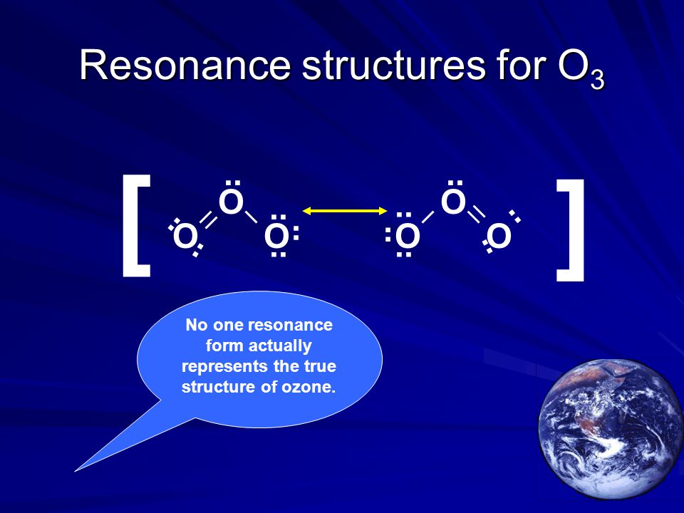 Resonance structures for O3