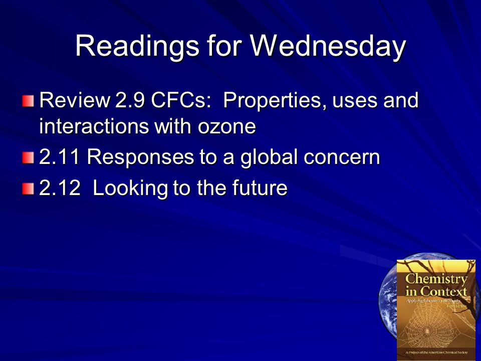 Readings for Wednesday