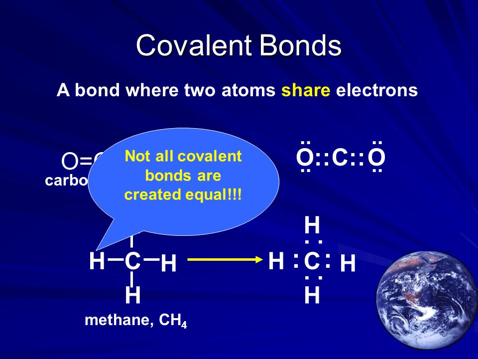 Not all covalent bonds are created equal!!!