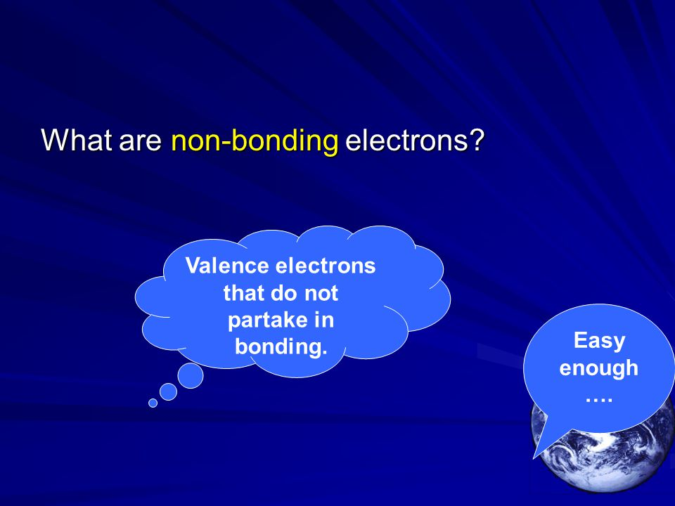 Valence electrons that do not partake in bonding.