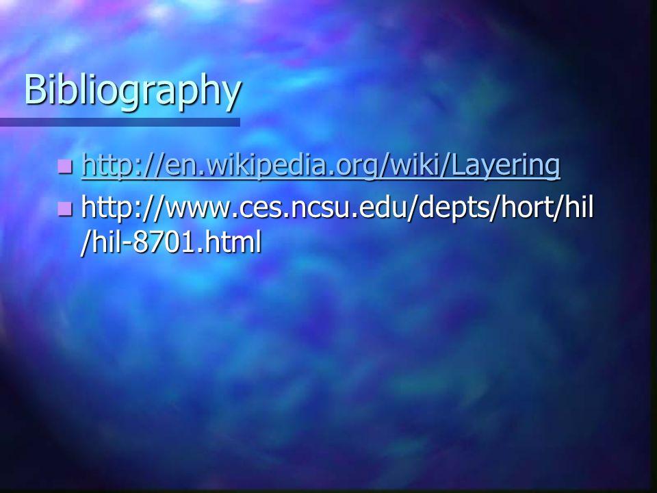Bibliography http://en.wikipedia.org/wiki/Layering